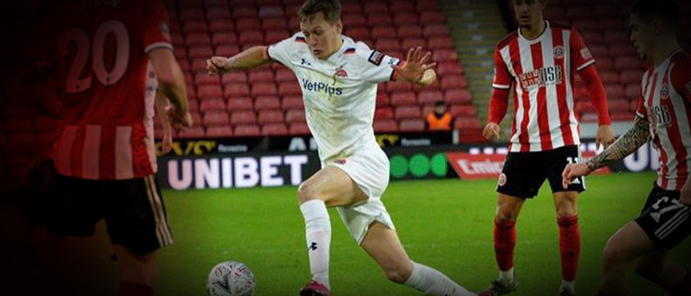 James Craigen In FA Cup Action Against Sheffield United